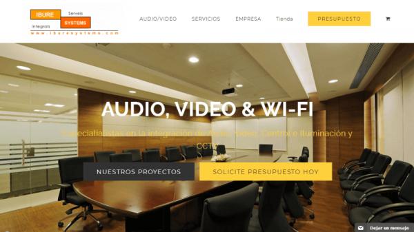 Diseño y posicionamiento web seo de una empresa de audio y video profesional