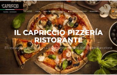 Diseño y posicionamiento web pizzeria italiana